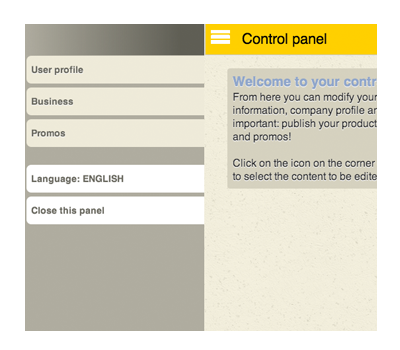 Your Control Panel